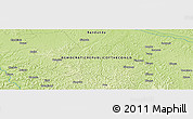 """Physical Panoramic Map of the area around 4°1'30""""S,18°46'29""""E"""