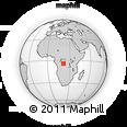 Outline Map of Benga, rectangular outline