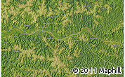 "Satellite Map of the area around 4°1'30""S,22°10'29""E"