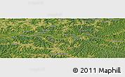 "Satellite Panoramic Map of the area around 4°1'30""S,22°10'29""E"