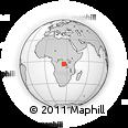 Outline Map of Zumbu, rectangular outline