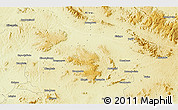 """Physical 3D Map of the area around 4°1'30""""S,27°16'29""""E"""
