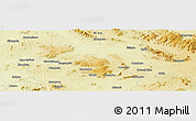 """Physical Panoramic Map of the area around 4°1'30""""S,27°16'29""""E"""