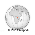 Outline Map of Kibenga, rectangular outline