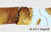 Physical Panoramic Map of Kibenga
