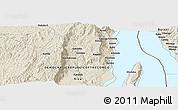 Shaded Relief Panoramic Map of Kibenga