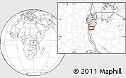 Blank Location Map of Makamba