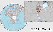 Gray Location Map of Makamba