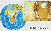 Physical Location Map of Makamba
