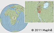 Savanna Style Location Map of Makamba, hill shading