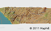 Satellite Panoramic Map of Burambi
