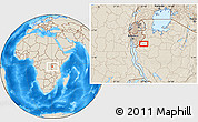 """Shaded Relief Location Map of the area around 4°1'30""""S,30°40'29""""E"""
