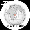 Outline Map of Kaloleni, rectangular outline