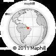 Outline Map of Bacabal, rectangular outline