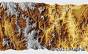 """Physical 3D Map of the area around 4°1'30""""S,78°58'29""""W"""