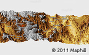 """Physical Panoramic Map of the area around 4°1'30""""S,78°58'29""""W"""
