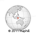 Outline Map of Lakara, rectangular outline