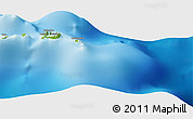 """Physical Panoramic Map of the area around 4°32'58""""S,130°7'30""""E"""