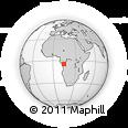 Outline Map of Mangembo, rectangular outline