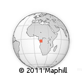 Outline Map of Sanga-Londe, rectangular outline