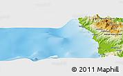Physical Panoramic Map of Wilainbemki