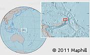 Gray Location Map of Awungi, hill shading