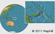 Satellite Location Map of Awungi