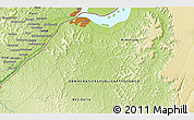 """Physical 3D Map of the area around 4°32'58""""S,15°22'30""""E"""