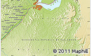 """Physical Map of the area around 4°32'58""""S,15°22'30""""E"""