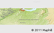 """Physical Panoramic Map of the area around 4°32'58""""S,15°22'30""""E"""