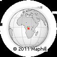 Outline Map of Bakwa-Bilonda, rectangular outline
