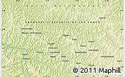 "Physical Map of the area around 4° 32' 58"" S, 21° 19' 30"" E"