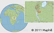 Savanna Style Location Map of Kagera
