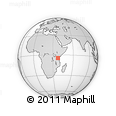Outline Map of Mbalibali, rectangular outline