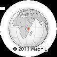 Outline Map of KRA Horo Horo, rectangular outline