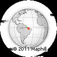 Outline Map of Codó, rectangular outline