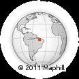Outline Map of Pedreiras, rectangular outline