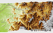 """Physical 3D Map of the area around 4°32'58""""S,79°49'29""""W"""