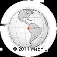 Outline Map of Limón, rectangular outline