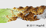 """Physical Panoramic Map of the area around 4°32'58""""S,79°49'29""""W"""