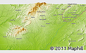 Physical 3D Map of Carrizal
