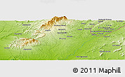 Physical Panoramic Map of Carrizal