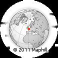 Outline Map of Dieppe, rectangular outline