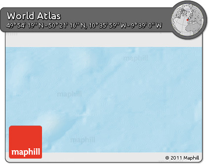 """Shaded Relief 3D Map of the Area around 50°7'47""""N,10°7'30""""W"""