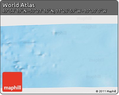 """Physical 3D Map of the Area around 50°7'47""""N,10°58'29""""W"""