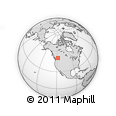 Outline Map of Nakusp, rectangular outline