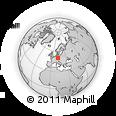 Outline Map of Rehau, rectangular outline
