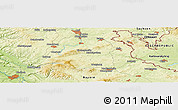 """Physical Panoramic Map of the area around 50°7'47""""N,11°58'29""""E"""