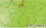 Physical Map of Blagoveshchensk