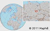 Gray Location Map of Žlutice
